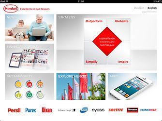 iPad用户可通过全新汉高应用程序了解公司信息。
