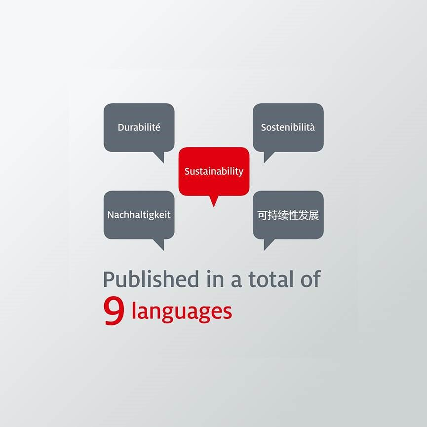 Sustainability Report in 9 languages